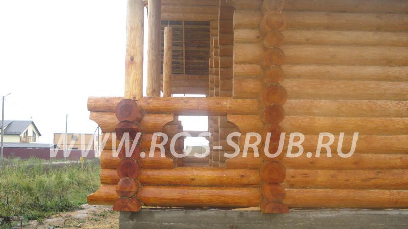 Деревянные дома из цельного бревна от